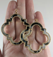 Moroccan Frame Earrings (Dangles) - size comparison hand