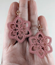 Spring Snowflake Earrings
