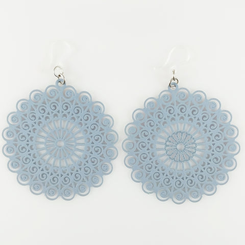 Whimsical Earrings (Dangles) - gray