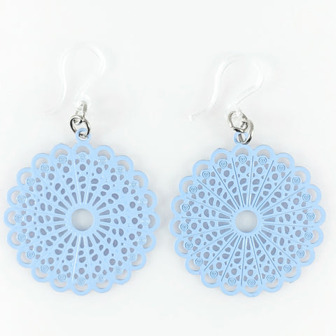 Burst Earrings (Dangles) - light blue