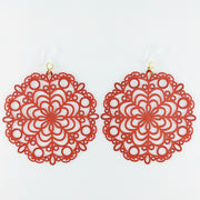 Bubble Wand Earrings (Dangles) - red