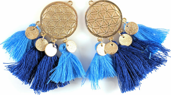 Gold Coin Tassels (more colors)