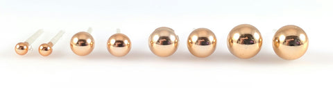Metallic Pearl Earrings (Studs) - various sizes gold