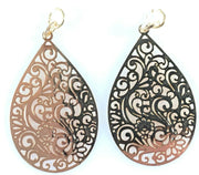 Paisley Teardrop Earrings (Dangles) - gold