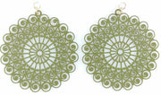 Whimsical Earrings (Dangles) -  olive