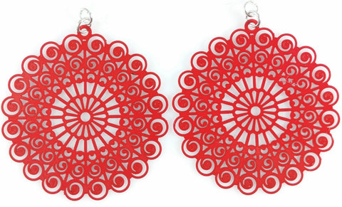 Whimsical Earrings (Dangles) - red