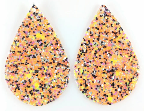 Halloween Glitter Teardrop Earrings