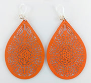 Stained Glass Teardrop Earrings (Dangles)