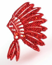 Indian Earrings (Studs) - red