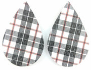 Plaid Teardrop Earrings