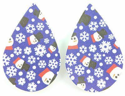 Snowman Teardrop Earrings (Teardrop Dangles) - various colors