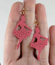 Ballerina Earrings (Dangles) - size comparison hand