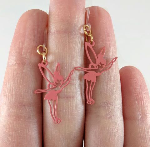 Fairy Earrings (Dangles) - size comparison hand