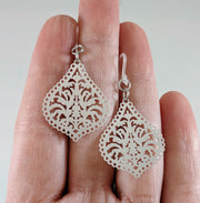 Moroccan Lamp Earrings (Dangles) - size comparison hand