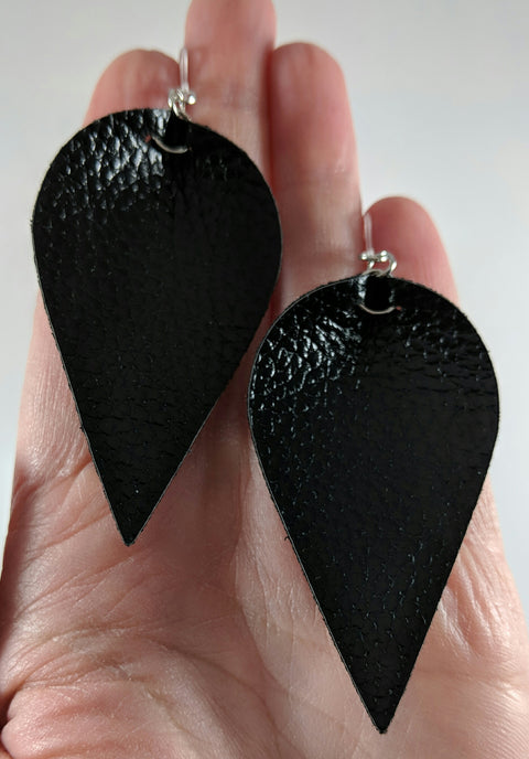 Inverted Teardrop Earrings (Dangles) size comparison hand