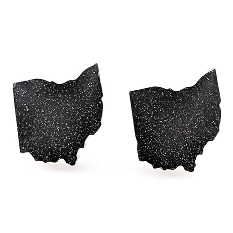 Ohio Earrings (Studs)- black