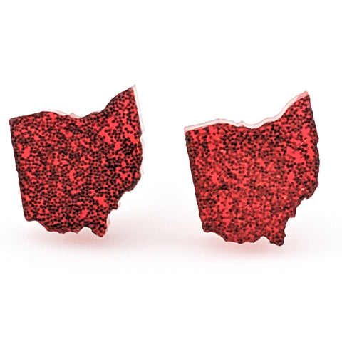 Ohio Earrings (Studs) - red