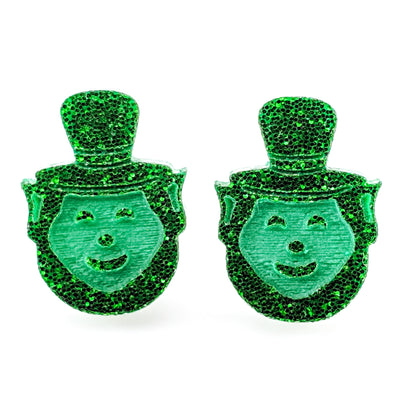 Leprechaun Earrings (Studs) - green