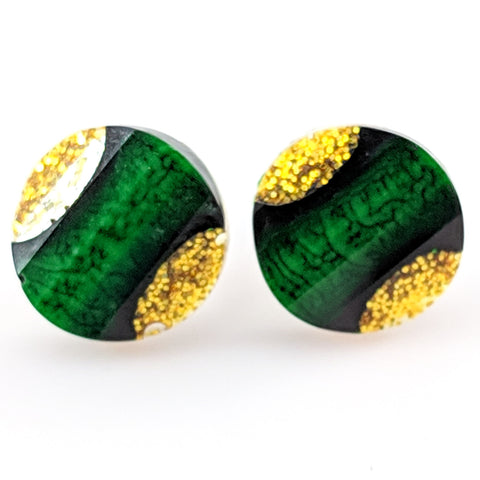 Glitter Snakeskin Earrings (Studs)