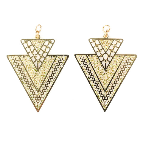 Arrowhead Earrings (Dangles) - gold
