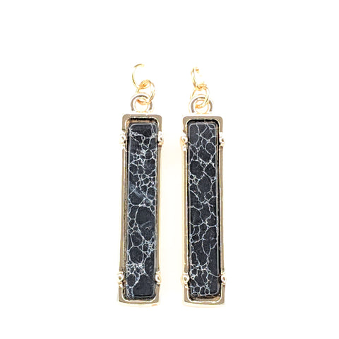 Faux Stone Bar Earrings