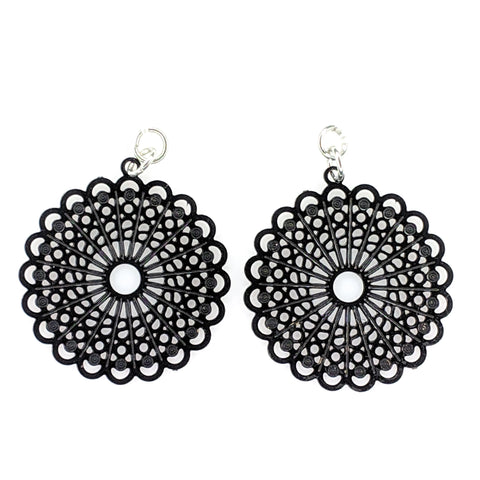 Burst Earrings (Dangles) - black