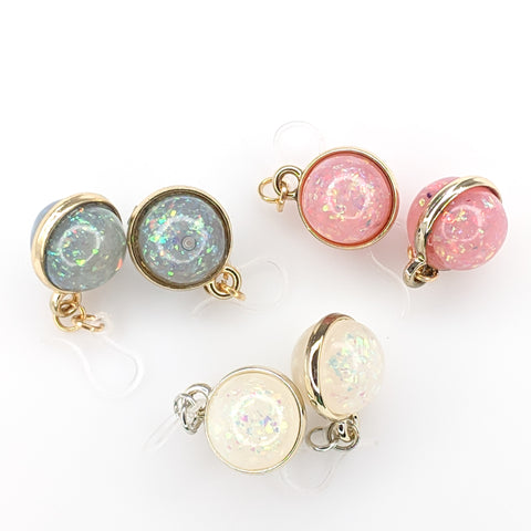 Double-Sided Galaxy Fleck Globe Earrings (Dangles) - all colors