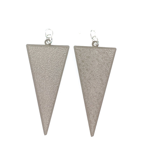 Inverted Triangle Earrings (Dangles) - grey