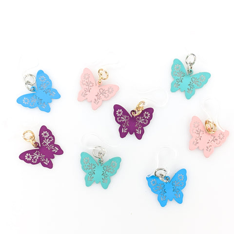 Petite Butterfly Earrings (Dangles) - all colors