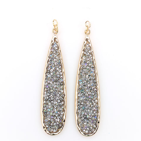 Faux Druzy Raindrop Earrings