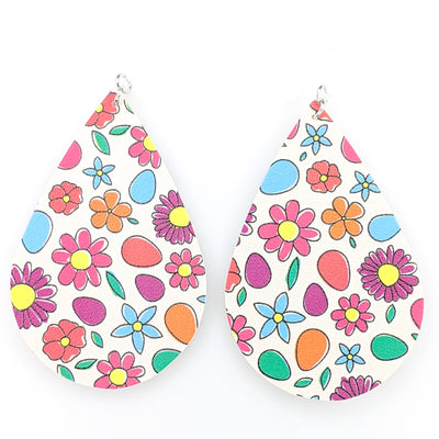Easter Earrings (Teardrop Dangles) - multicolored