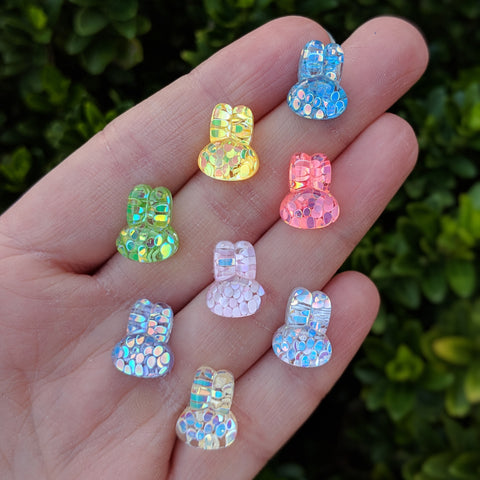 Confetti Bunny Earrings (Studs) - various colors