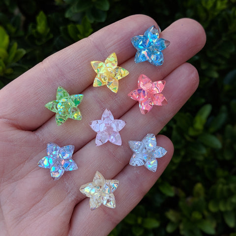 Confetti Star Flower Earrings (Studs) - various colors