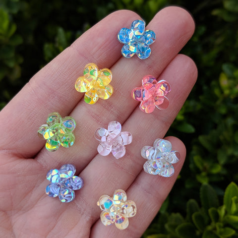 Confetti Flower Earrings (Studs) - various colors