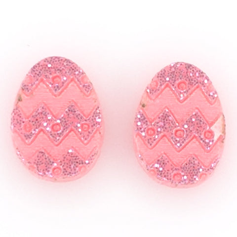 Easter Egg Earrings (Studs) - pink