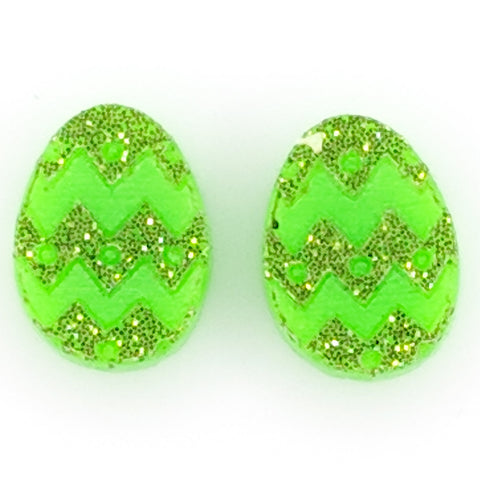 Easter Egg Earrings (Studs) - green