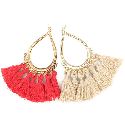 Teardrop Tassels Earrings (Dangles) - all colors