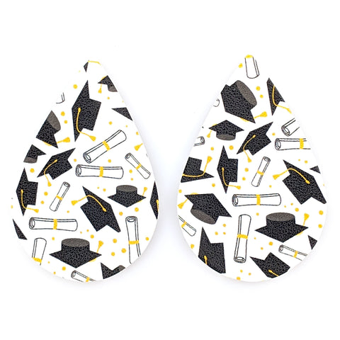 Graduation Teardrop Earrings (Teardrop Dangles) - multi colored