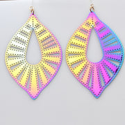 Color Changing Bubble Teardrop Earrings (Dangles) - iridescent