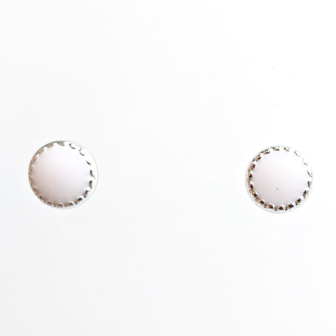 Monochrome Circle Earrings