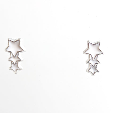 Monochrome Shooting Star Earrings