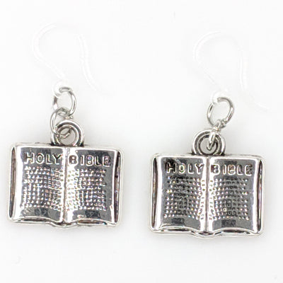 Bible Earrings (Dangles) - silver