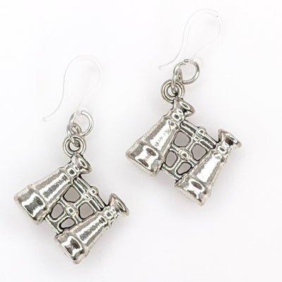 Binocular Earrings (Dangles) - silver