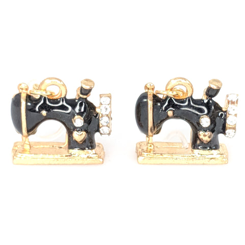 Vintage Sewing Machine Earrings
