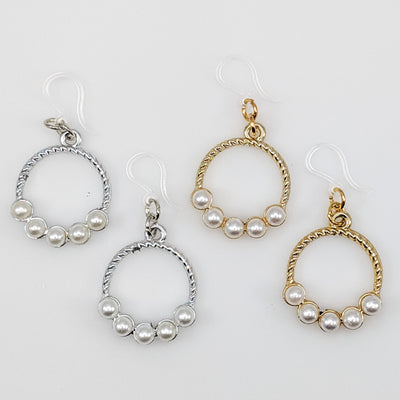 Pearl Hoop Earrings (Dangles) - all colors