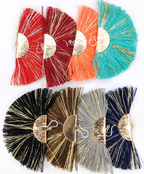 FANtastic Tassel Earrings (Dangles) - various colors