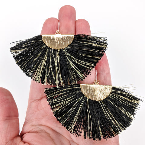 FANtastic Tassel Earrings (Dangles) - size comparison hand