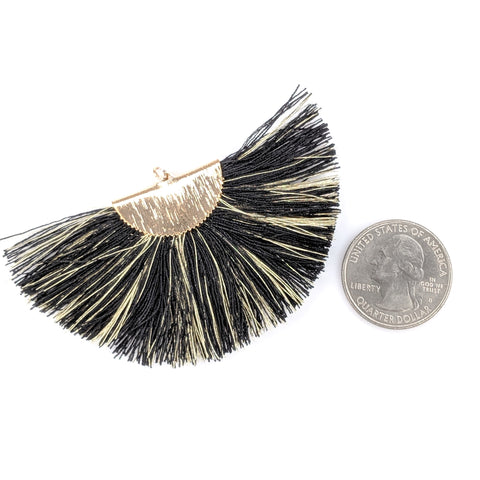 FANtastic Tassel Earrings (Dangles) - size comparison quarter