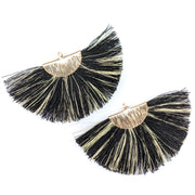 FANtastic Tassel Earrings (Dangles) - black