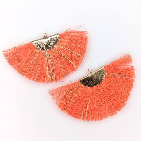 FANtastic Tassel Earrings (Dangles) - orange
